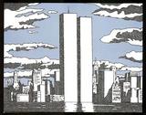 World Trade Center Names Text Art Print Poster Print
