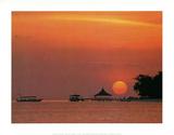 Maldives (Sunset on Ocean) Art