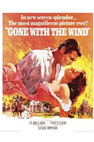 Gone with the Wind Movie, Rhett Butler and Scarlett O'Hara Embrace, Poster Print Prints
