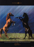 No More Night Mares Horses on Prarie Art Print Poster Posters