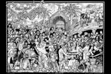 Howard Teman (Rap Party) Art Poster Print Poster von Howard Teman