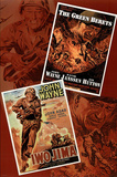 John Wayne Double Feature Green Berets and Iwo Jima Movie Poster Print Posters