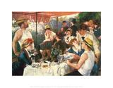 Roernes frokost, ca. 1881 Plakater af Pierre-Auguste Renoir