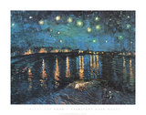 Starlight Over Rhone Starry Night Kunstdrucke von Vincent van Gogh