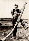 James Dean (Barbed Fence) Movie Poster Print