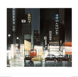 Night on Broadway Posters par Xavier Carbonell