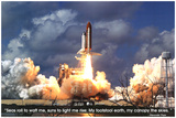Shuttle Blastoff Educational Space Poster Print Photo
