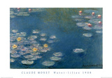 Waterlillies Prints by Claude Monet