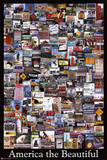 America the Beautiful (Collage) Art Poster Print Plakater