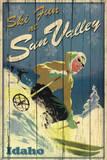 Ski Fun at Sun Valley Idaho Art Print Poster Posters