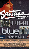 Santana w/ UB40 (2002 Concert Flyer) Original Huge Music Poster Prints