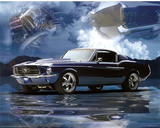 1967 Ford Mustang Fastback Art Print Poster Posters