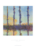 Les peupliers Posters par Claude Monet