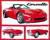 Chevy Corvettes (Fabulous) Art Poster Print Prints