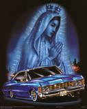 Virgin City (Praying over Car) Art Poster Print Poster