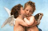 William Bouguereau (Le Premier Baiser, The First Kiss) Art Poster Print Plakaty