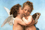 William Bouguereau (Le Premier Baiser, The First Kiss) Art Poster Print Posters