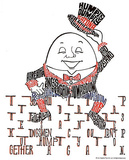 Humpty Dumpty Text Art Print Poster Posters