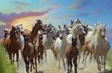 Roaming Free (Horses) Art Poster Print Poster