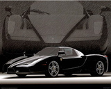 2004 Ferrari Enzo Black Car Art Print Poster Photo