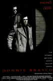 Donnie Brasco Movie (Al Pacino &amp; Johnny Depp, Credits) Poster Print Prints