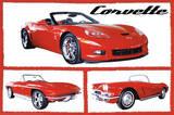 Chevy Corvettes (Fabulous) Art Poster Print Plakát