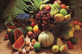 Frutta Fresca (Fresh Fruit Still Life) Art Poster Print Foto