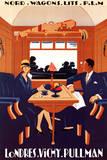 Nord Wagons Lits P.L.M. Londres Vichy Pullman Prints