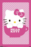 Hello Kitty Teacup Art Print Poster Posters