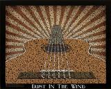 Kansas (Dust in the Wind Lyrics) Music Poster Print Billeder