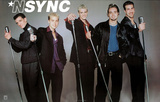 N' Sync (Group with Microphones) Music Poster Print Prints