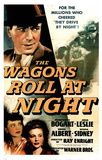 Wagons Roll At Night (Vintage) Movie Poster Print