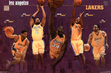Los Angeles Lakers 2001 Group Sports Poster Print Posters