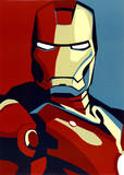 Iron Man 2 Movie (Artistic Stylized Iron Man) Art Poster Print Plakater
