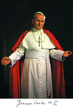 Pope John Paul II (Memorial) Religious Postcard Photo