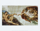 The Creation Of Adam Poster von  Michelangelo Buonarroti