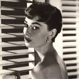 Audrey Hepburn Blinds Poster