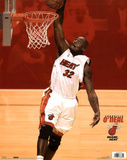 Miami Heat Shaquille O'Neal Dunking Sports Poster Print Prints