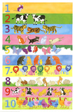 1 to 10 Learn to Count Art Print Poster Posters