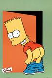 The Simpsons Pants Bart Mooning TV Poster Print Prints