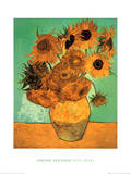 Zw&#246;lf Sonnenblumen Poster von Vincent van Gogh