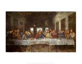 Das letzte Abendmahl Kunst von  Leonardo da Vinci