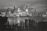 New York City at Night Skyline Art Print Poster Poster