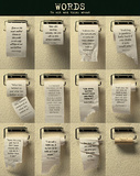 Words (On Toilet Paper, Motivational) Art Poster Print Posters