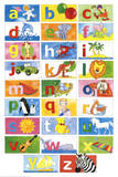 Animal Alphabet Learn Your Letters Art Print Poster Affiches