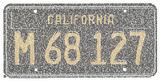 California License Plate Cities Text Art Print Poster Poster