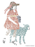 Mary Had a Little Lamb Text Art Print Poster Affiches