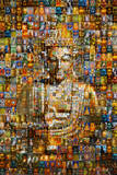 Buddha (Mosaic) Art Poster Print Photo
