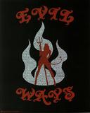 Santana (Evil Ways Lyrics) Music Poster Print Plakater