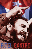 Fidel Castro (Face) Art Poster Print Posters